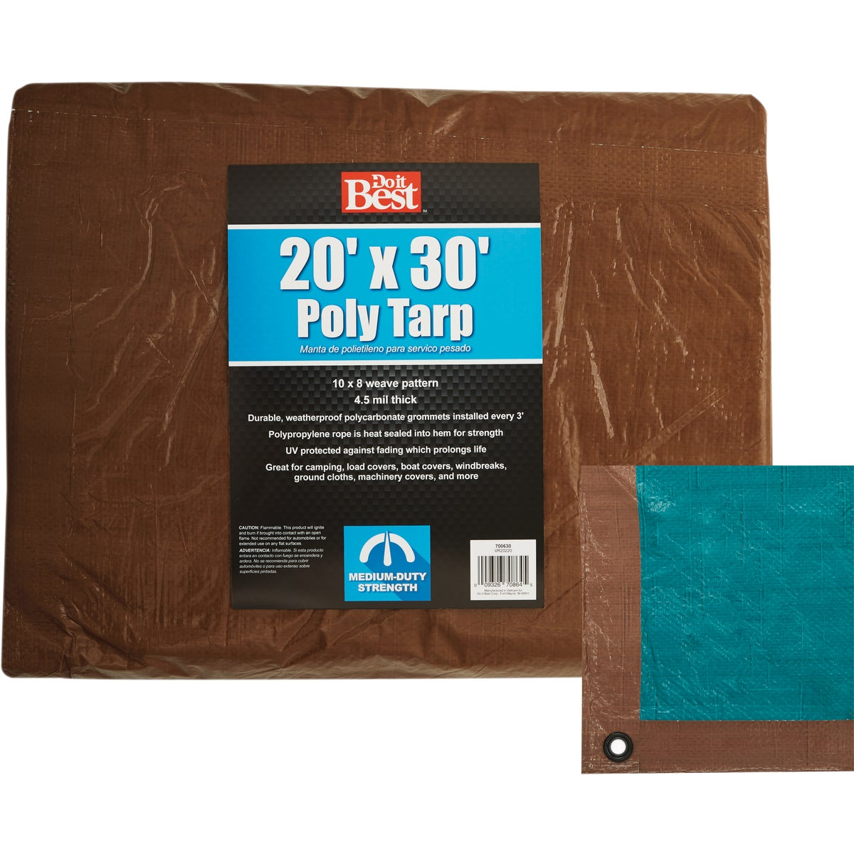 20X30 BR/GR MEDDUTY TARP - 700630 by Do it Best