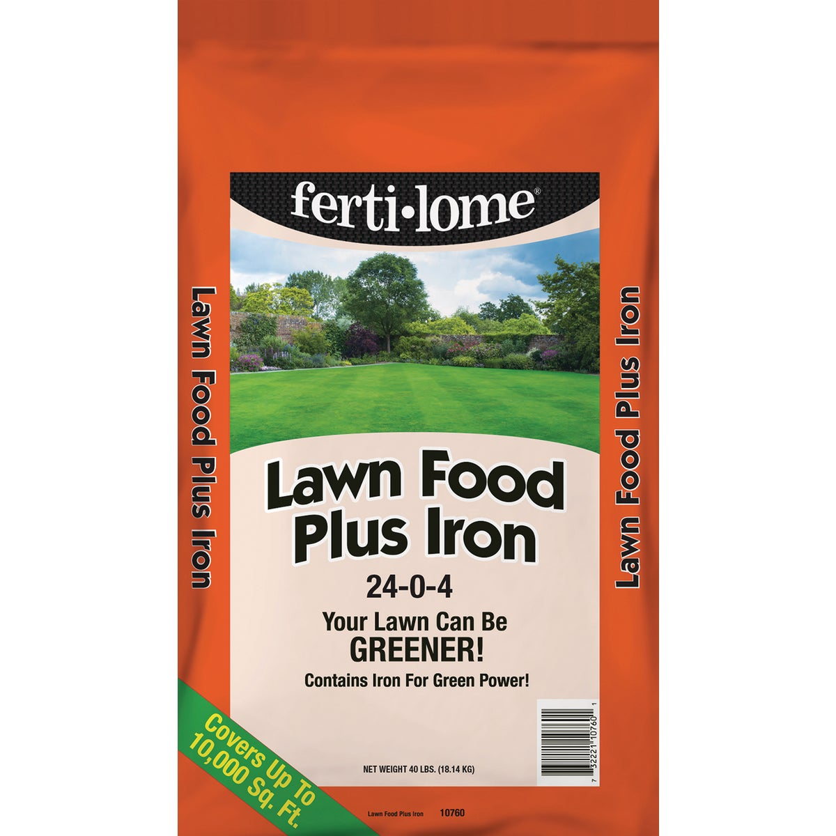 40LB LAWN FOOD PLUS IRON - 10760 by Vpg Fertilome