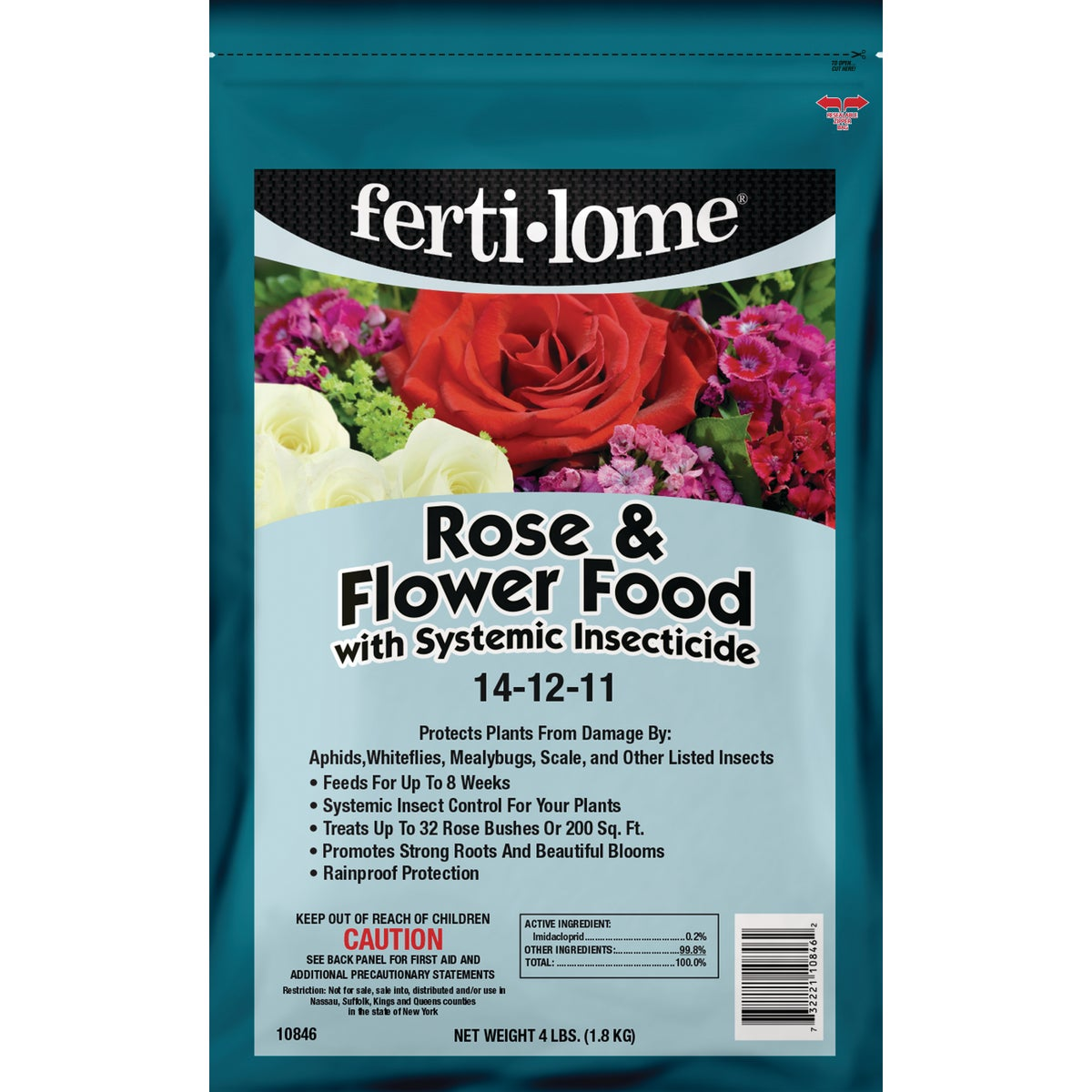 4LB ROSE&FLWR PLANT FOOD - 10846 by Vpg Fertilome
