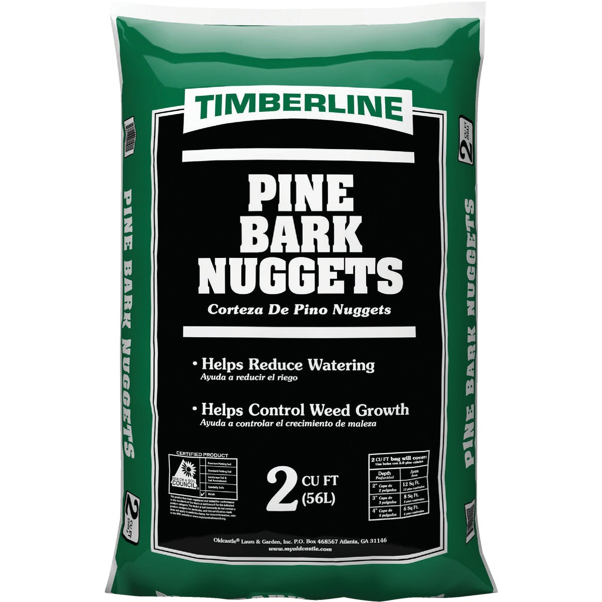 2CU FT PINE BARK NUGGETS