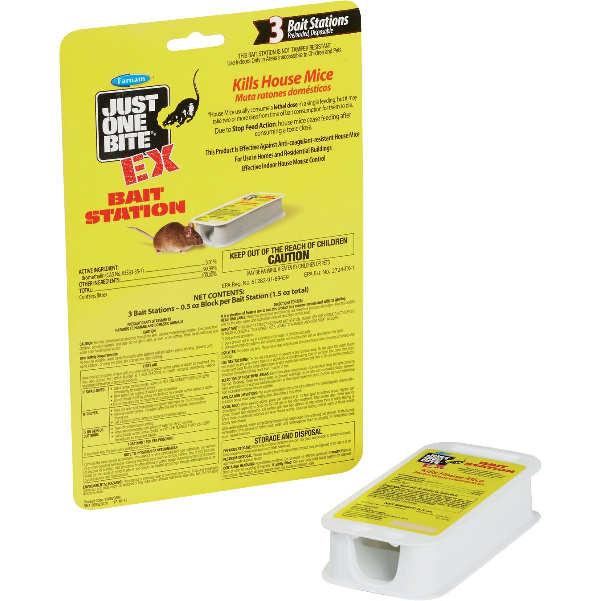3PK MOUSE BAIT STATION - 100505463 by Farnam Central Life
