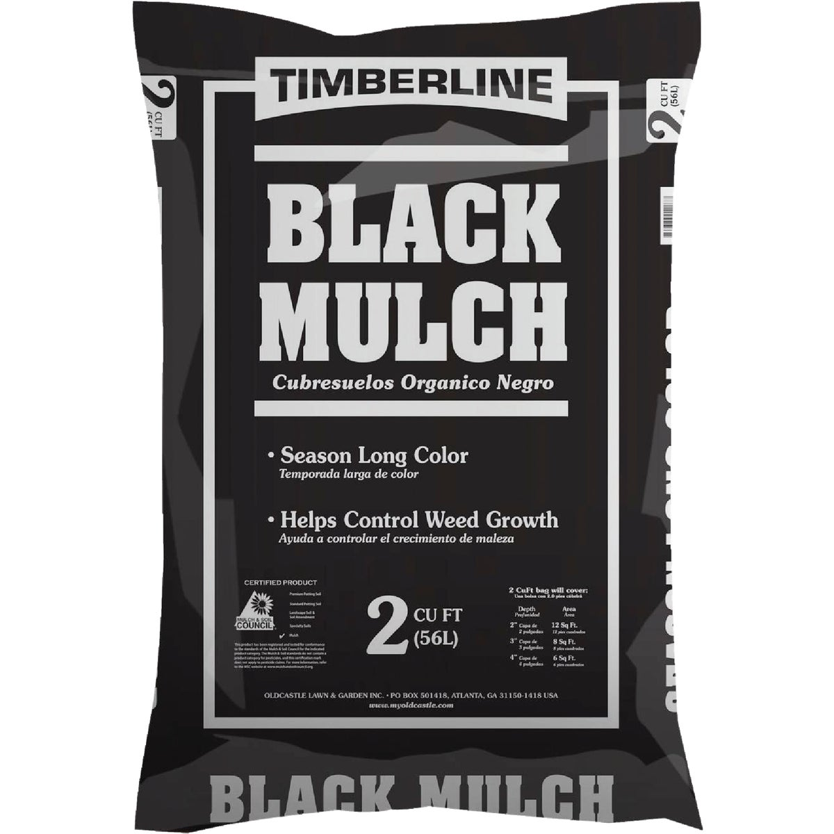 2CF BLACK SHREDDED MULCH