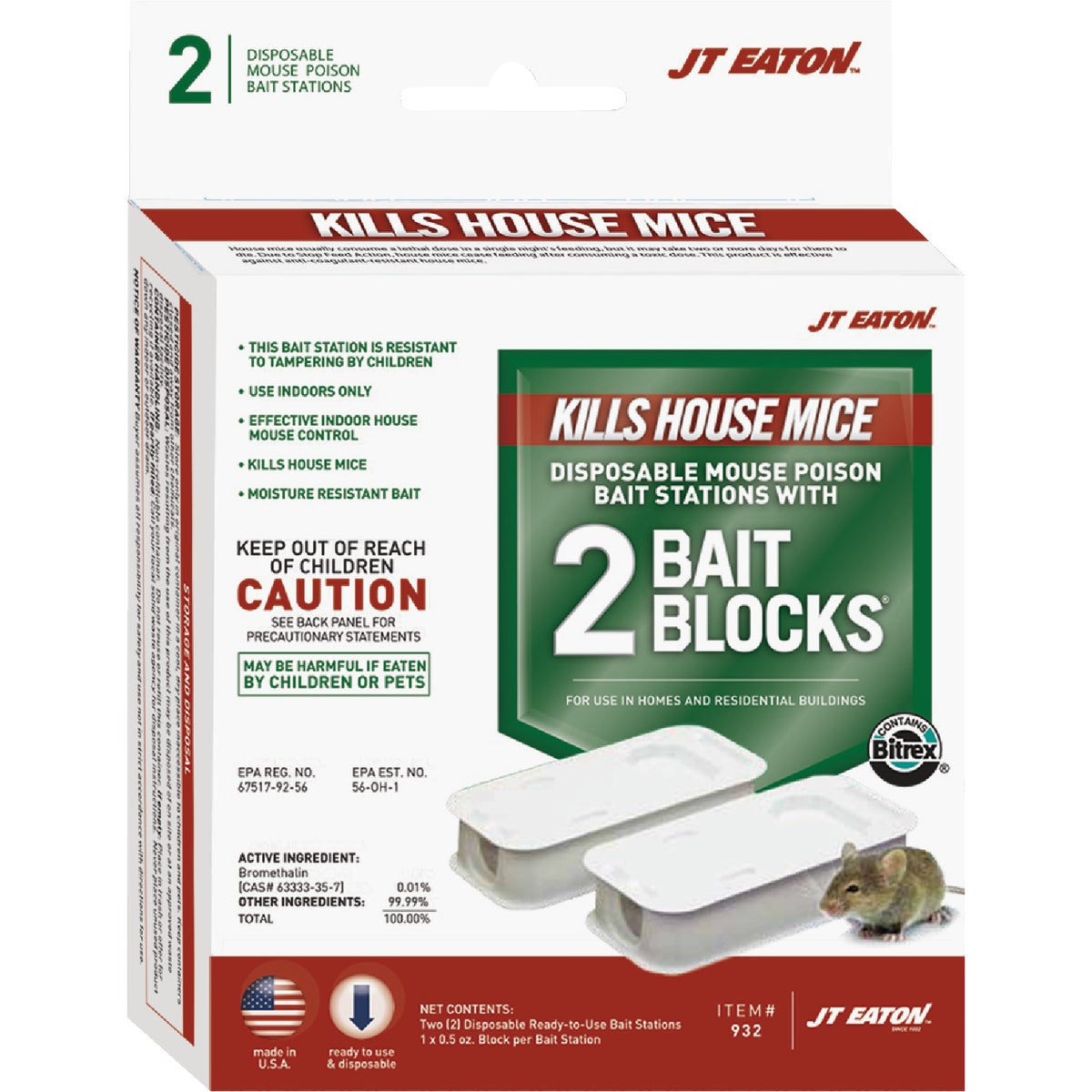 2PK MOUSE BAIT STATION - 932 by Jt Eaton & Co