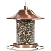 Perky-Pet Small Copper Panorama Bird Feeder, 312C