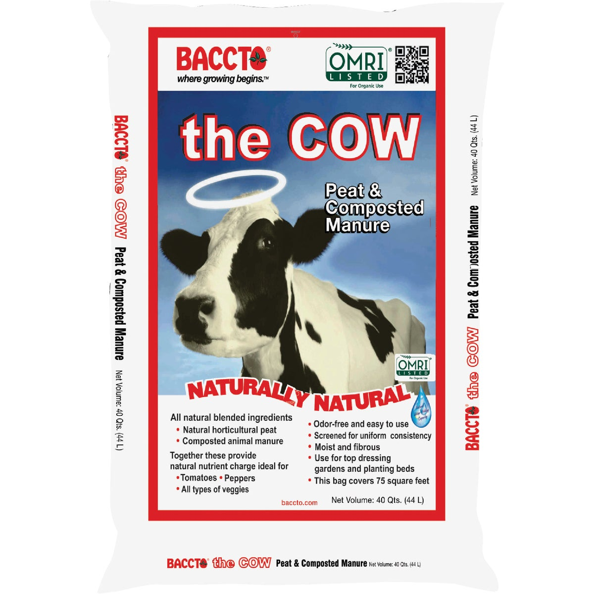 40QT BACCTO WHOLLY COW - 1640 by Michigan Peat