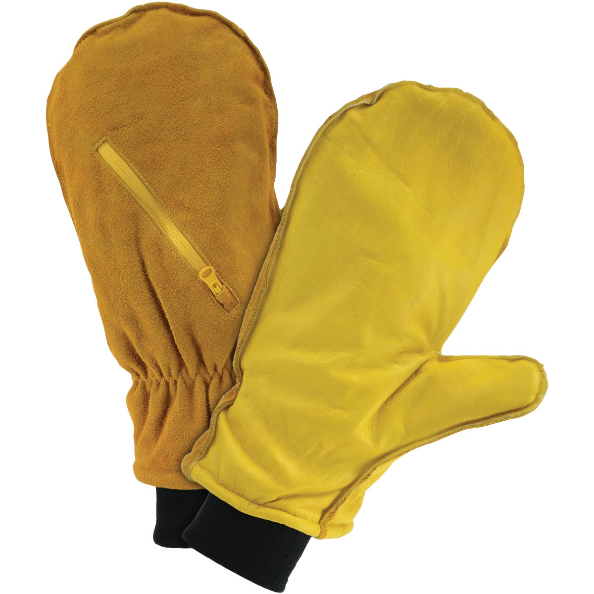 XL LINED LEATHER MITTEN