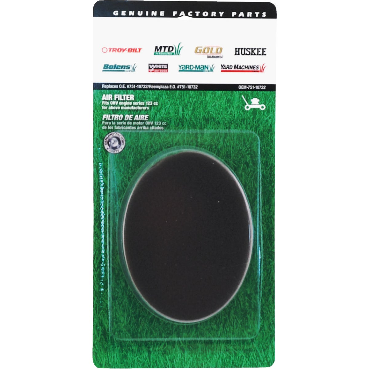 MTD OHV AIR FILTER - OEM-751-10732 by Arnold Corp