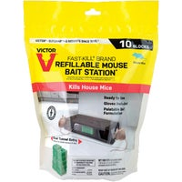 Victor Fast-Kill Refillable Mouse Bait Station, M917