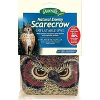 Gardeneer Natural Enemy Scarecrow Inflatable Great Horned Owl Pest Deterrent Decoy, NE-OR