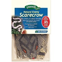 Gardeneer Natural Enemy Scarecrow Inflatable Garden Snake Pest Deterrent Decoy, NE-SR