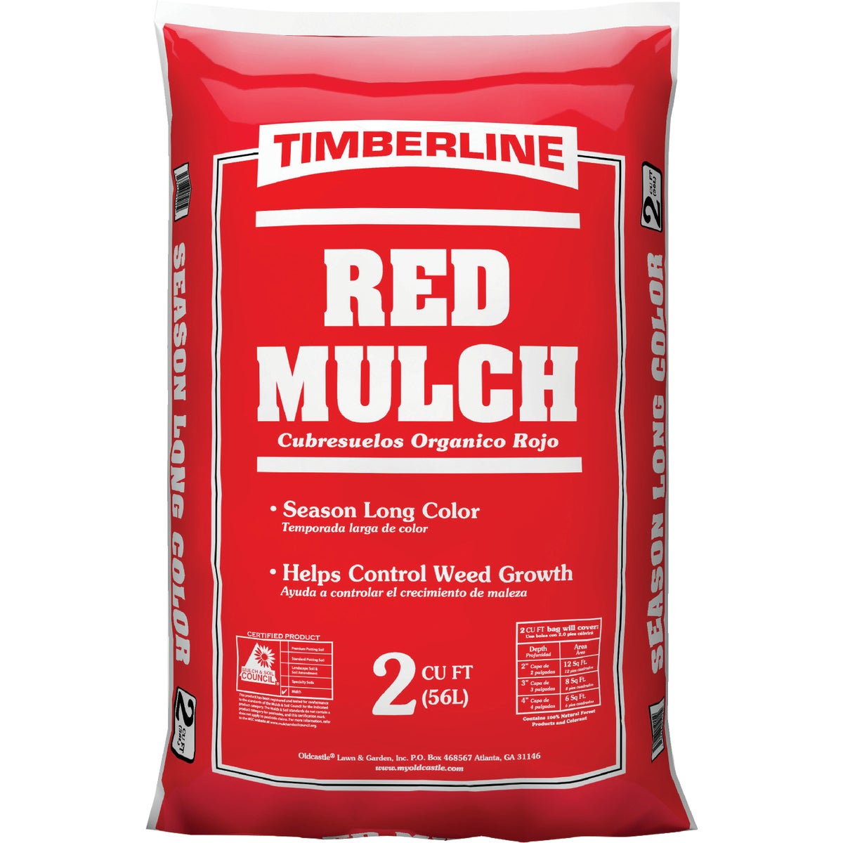 2CUFT RED SHREDDED MULCH - CMR02H by Old Castle Retail