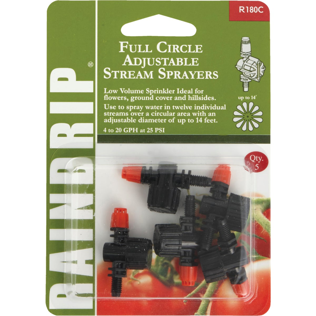 FULL ADJ STREAM SPRAYER - R180CT by Raindrip Inc
