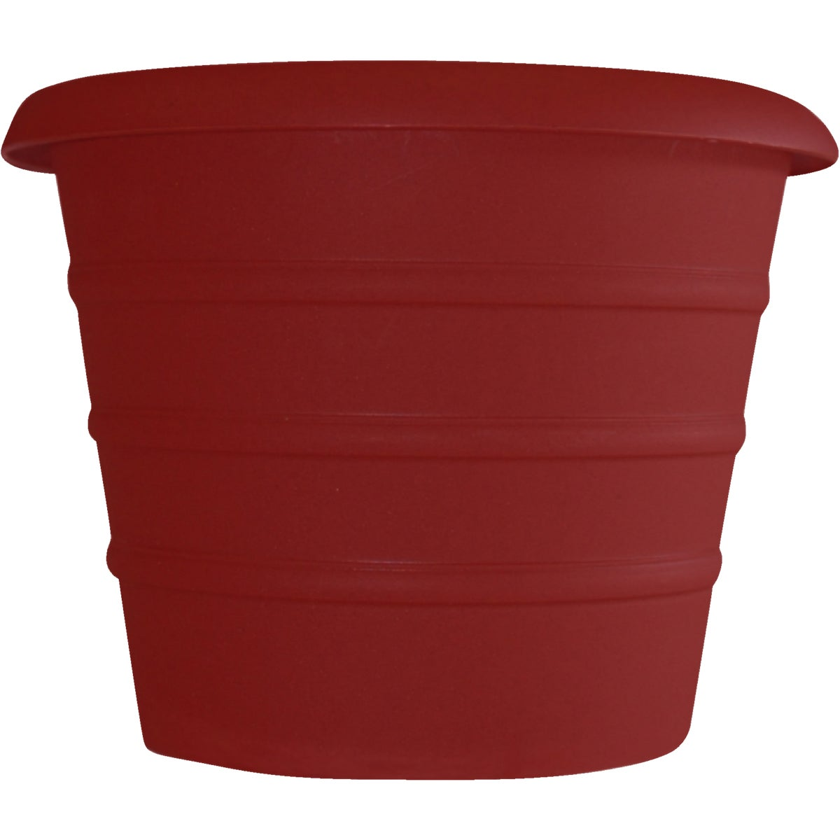"12"" RED SELF WATER POT - MSA12001F85 by Myers Industries Inc"