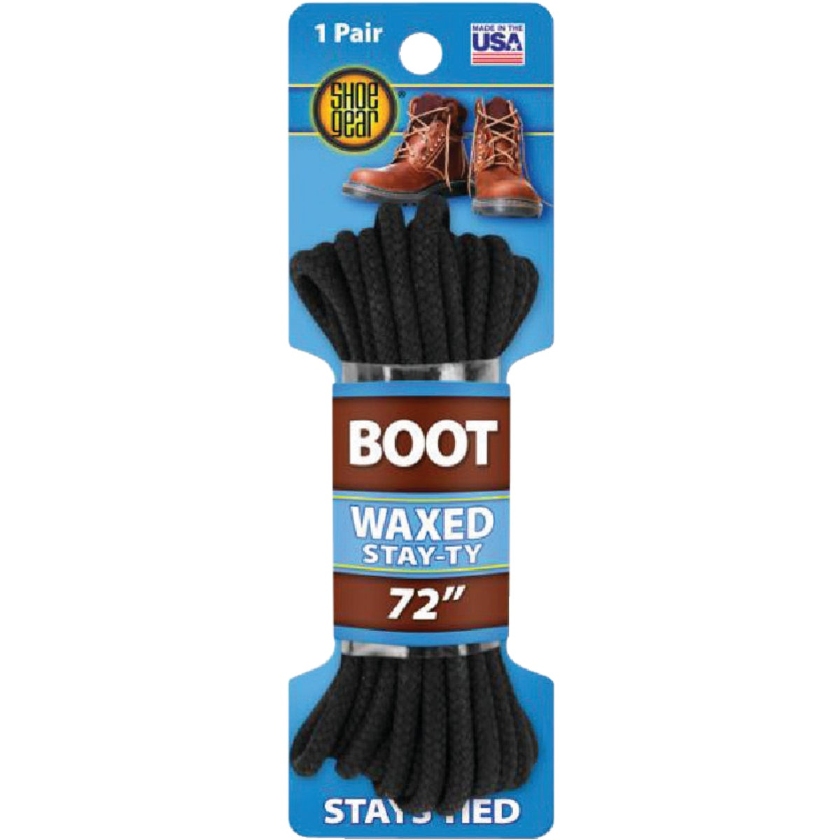 "72"" BLK RND BOOT LACE - 66422 by Sc Johnson"