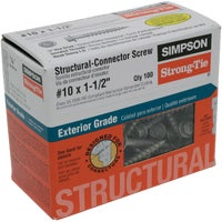 Simpson Strong-Tie 100 #10X1-1/2 WD SCREW SD10112R100