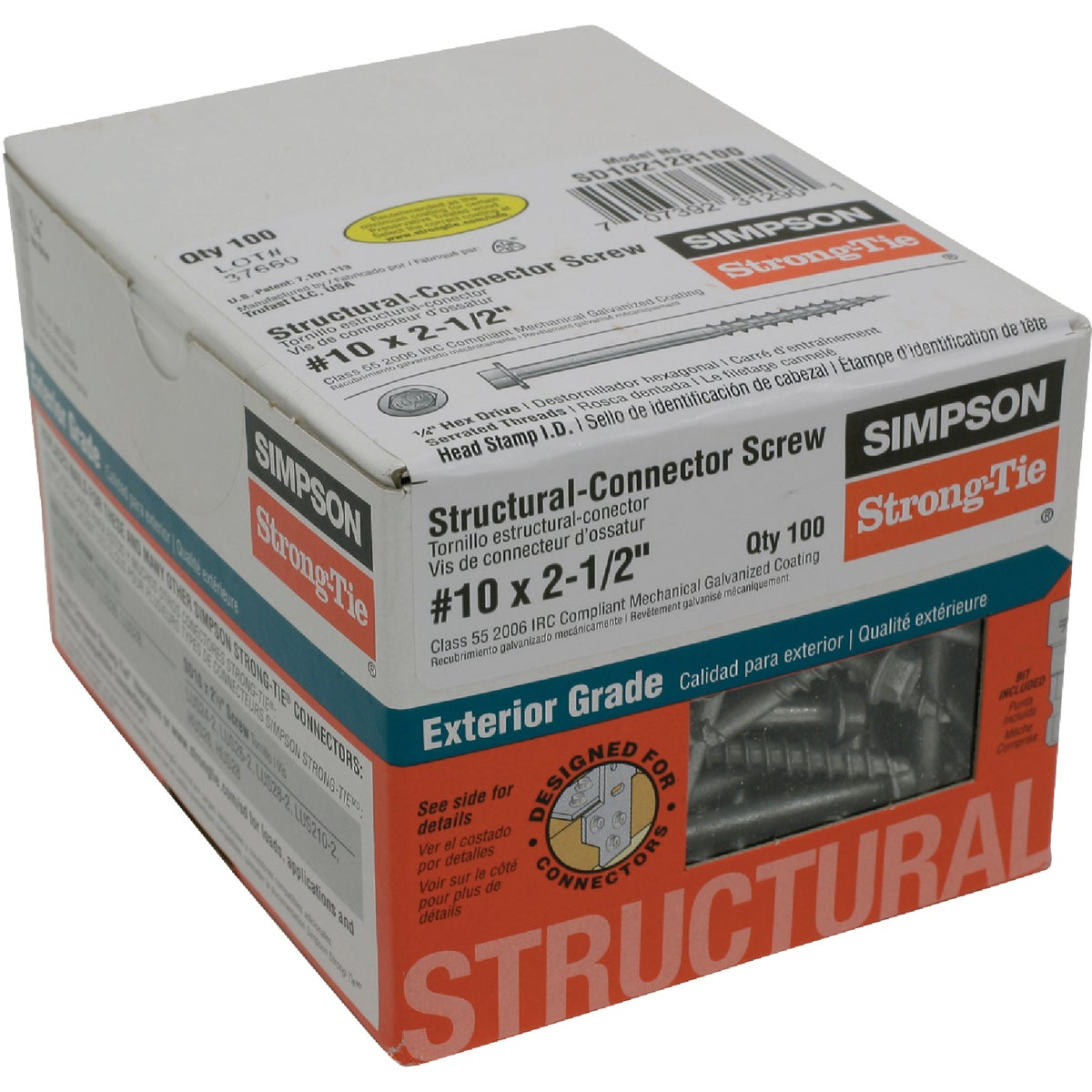 100 #10X2-1/2 WD SCREW - SD10212R100 by Simpson Strong Tie