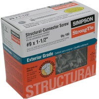 Simpson Strong-Tie 100 #9X1-1/2 WD SCREW SD9112R100