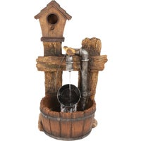 Birdhouse Pail Fountain