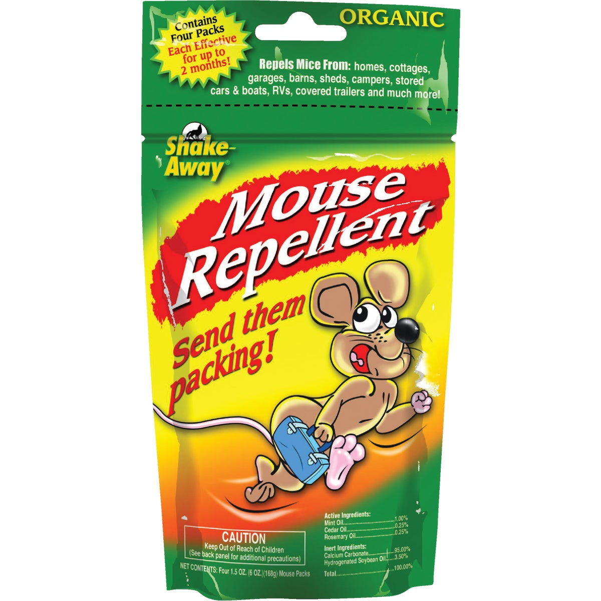 4PK MOUSE REPELLENT - 4152424 by Shake Away