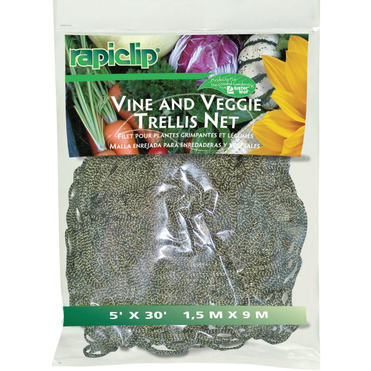 30' GRN VINE/VEGGIE NET - 869 by Luster Leaf Prod Inc