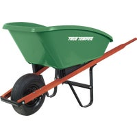 True Temper Flat Front Poly Wheelbarrow, SP5
