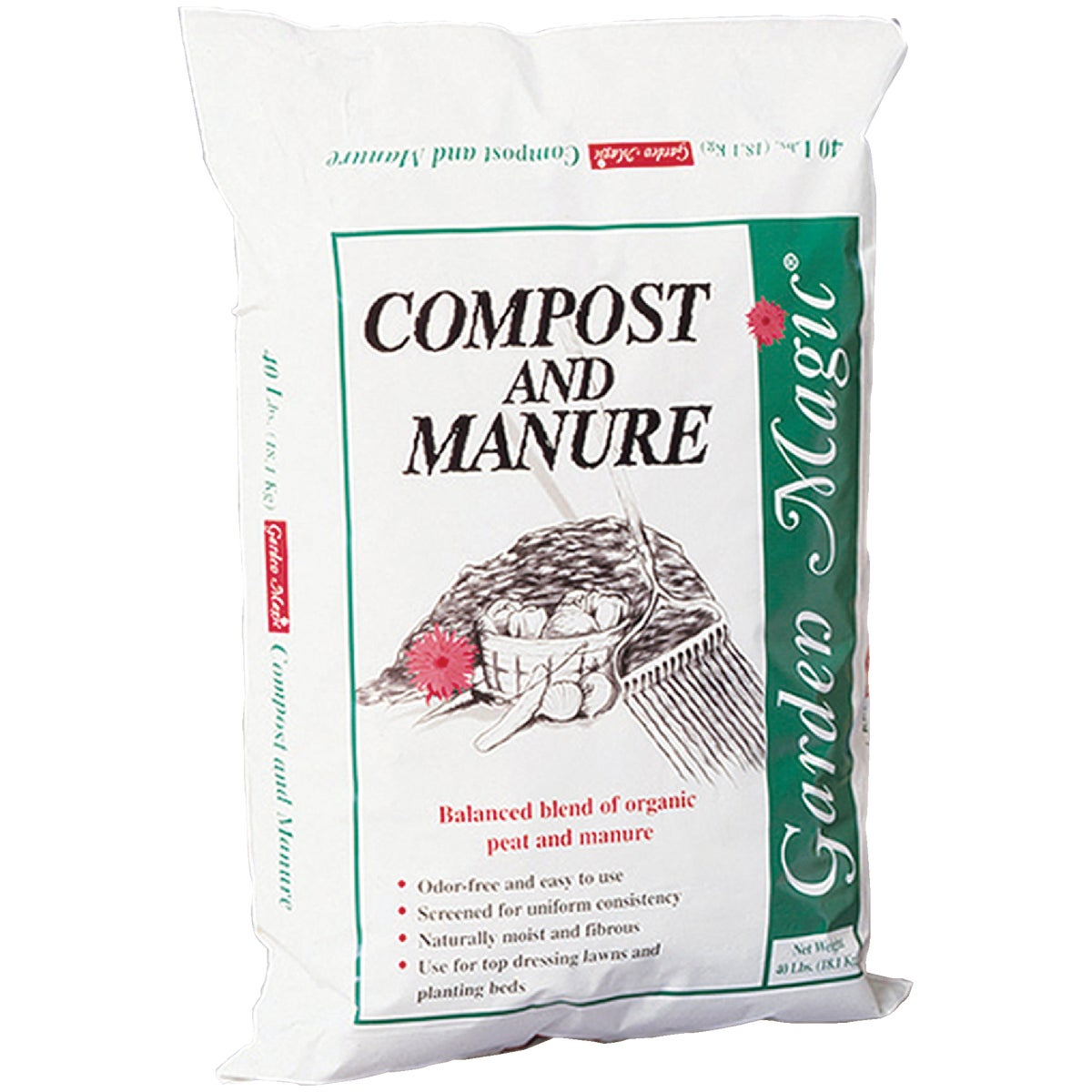 40LB COMPOST & MANURE - 5240 by Michigan Peat