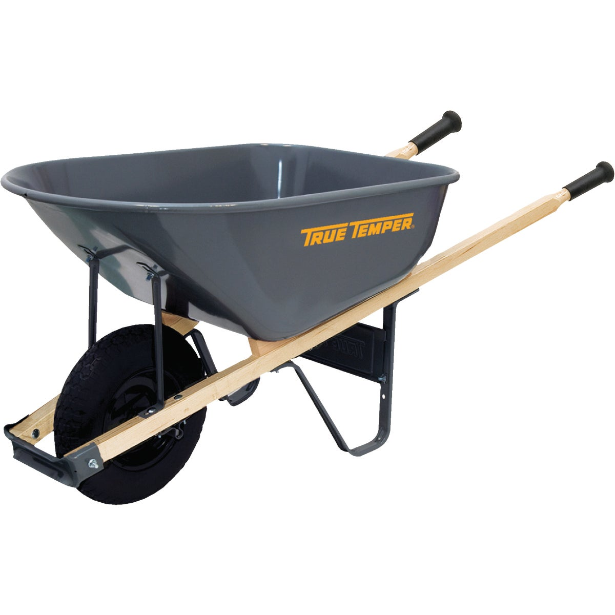 6 CU FT STL WHEELBARROW