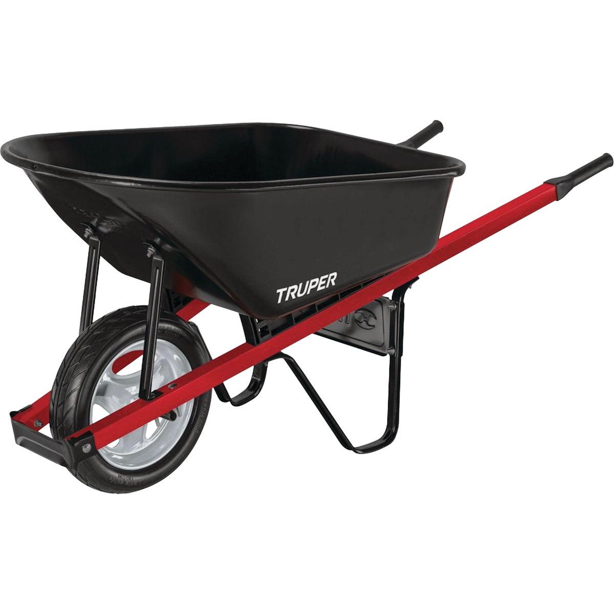 Truper Tru Tough Landscaper Steel Wheelbarrow, TM6-SF-G