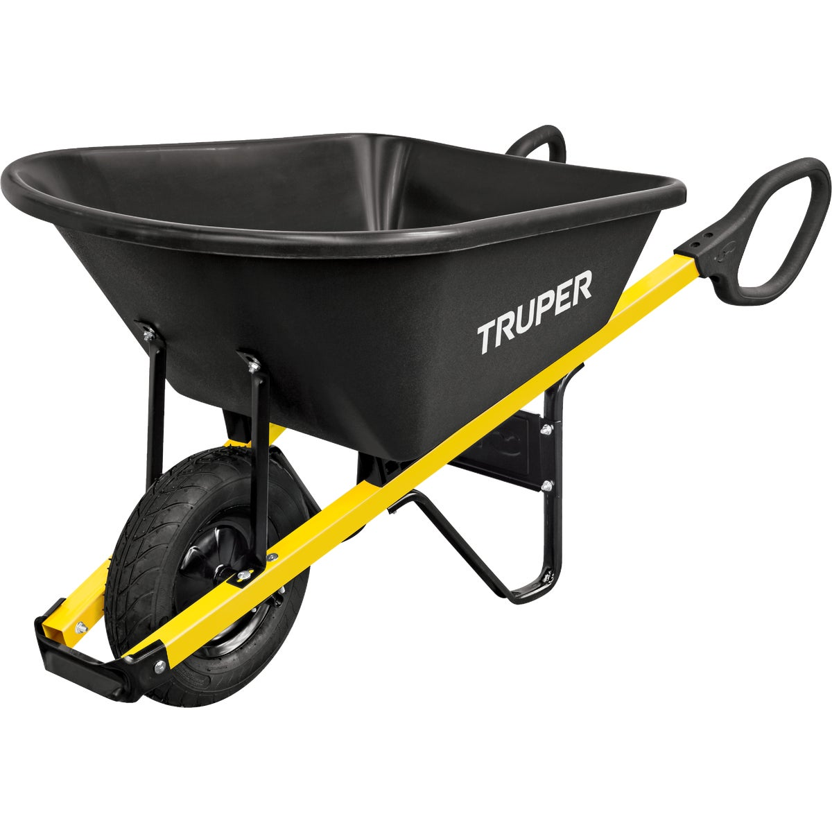 Truper Tru Grip Landscaper Poly Wheelbarrow, TP6-GR
