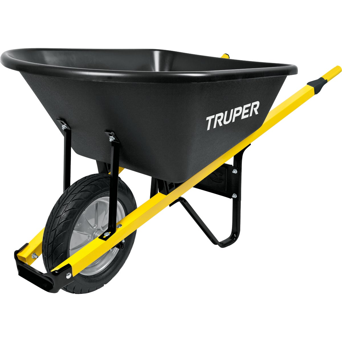 Truper Tru Tough Landscaper Poly Wheelbarrow, TPS-6F
