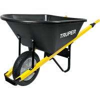 Truper Tru Tough Landscaper Poly Wheelbarrow , TPS-6F