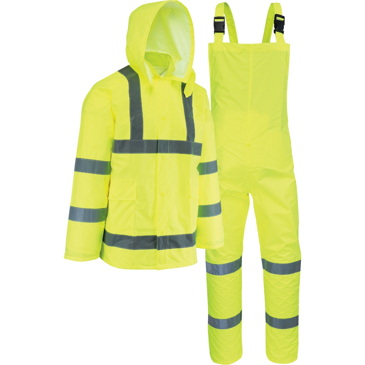 West Chester 3-Piece Hi Visibility Rain Suit, 44033/2XL