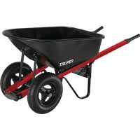 Truper Tru Tough Landscaper Dual Wheel Steel Wheelbarrow, TS6-2W