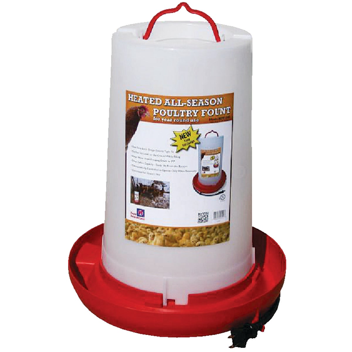HEATED POULTRY FOUNT