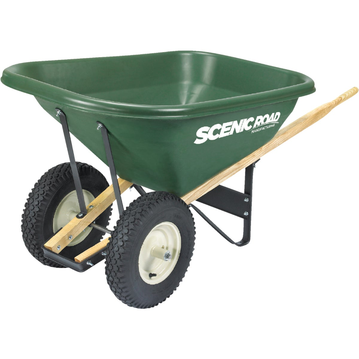 7 CUFT DUAL WHEELBARROW - SL7-2K by Scenic Road Mfg