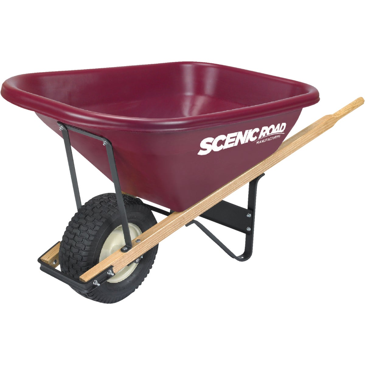10 CUFT DUAL WHEELBARROW - SRLJ-2K by Scenic Road Mfg