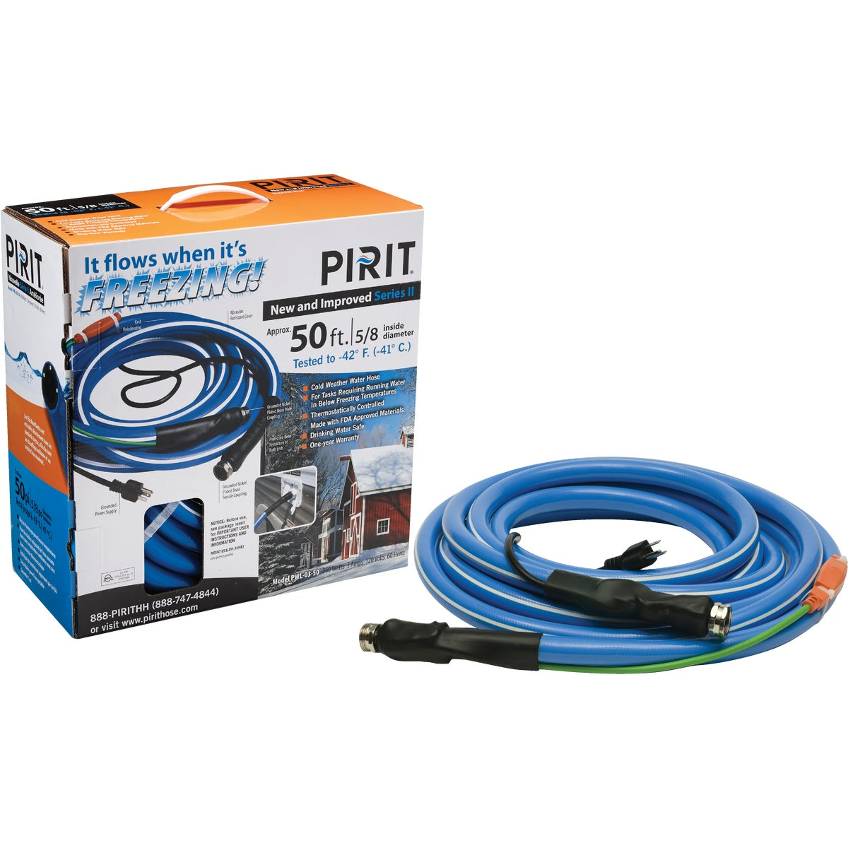 50' HEATED WATER HOSE - H50 by Miller Manufacturing