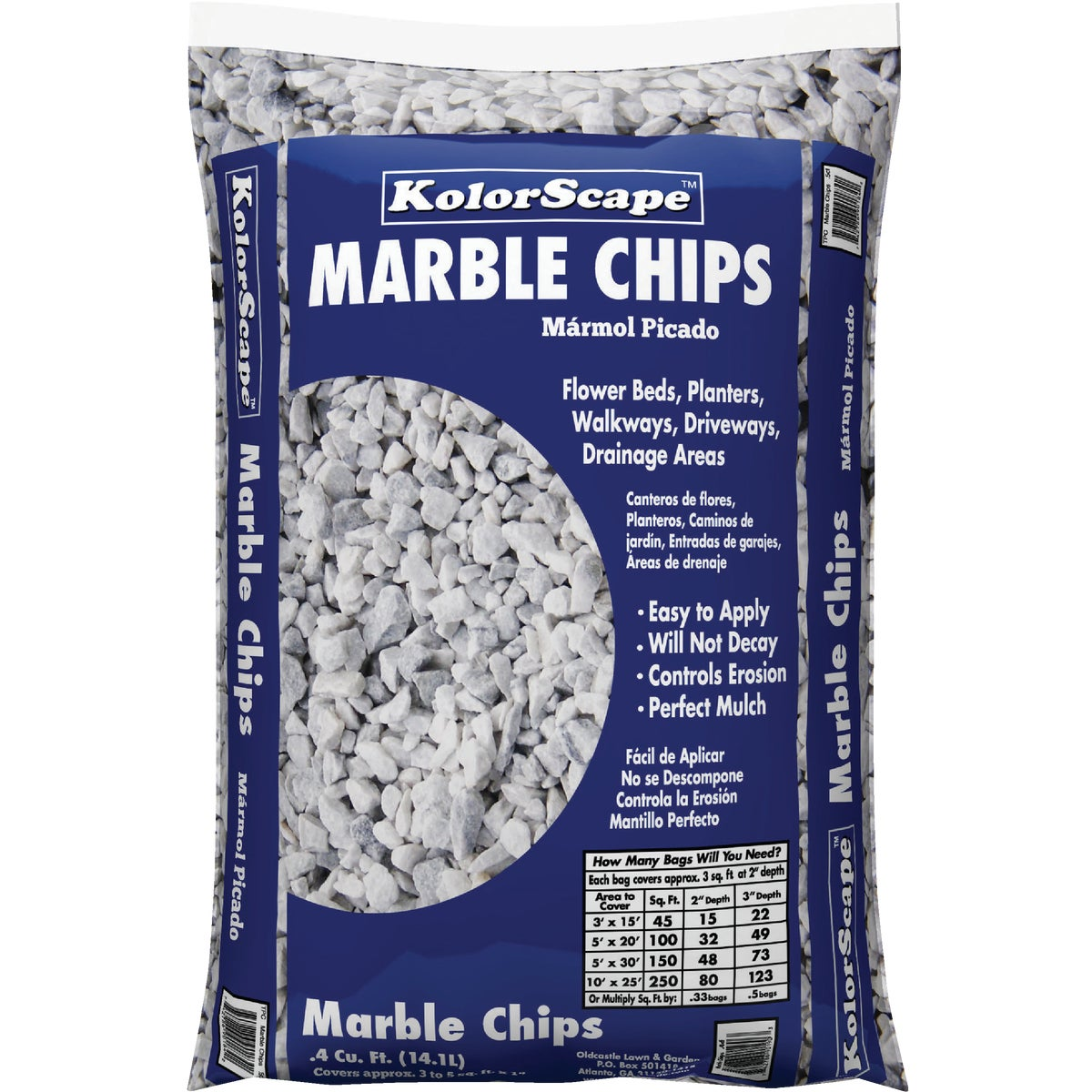 .4CF WHITE MARBLE CHIPS
