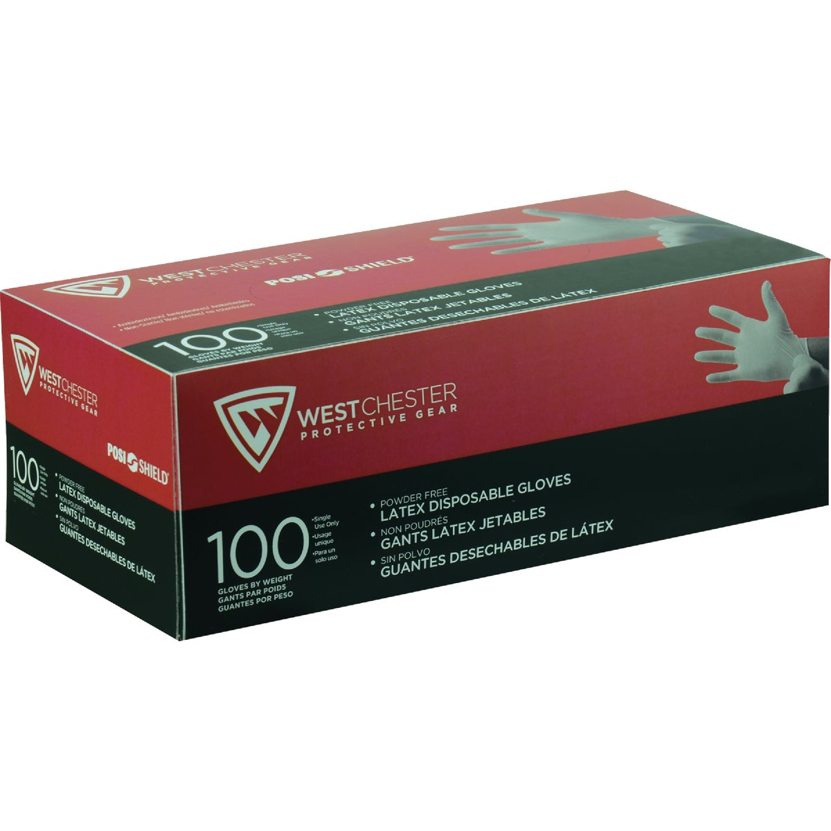 SM 7MIL PF LATEX GLOVE - 2850/S by West Chester Incom