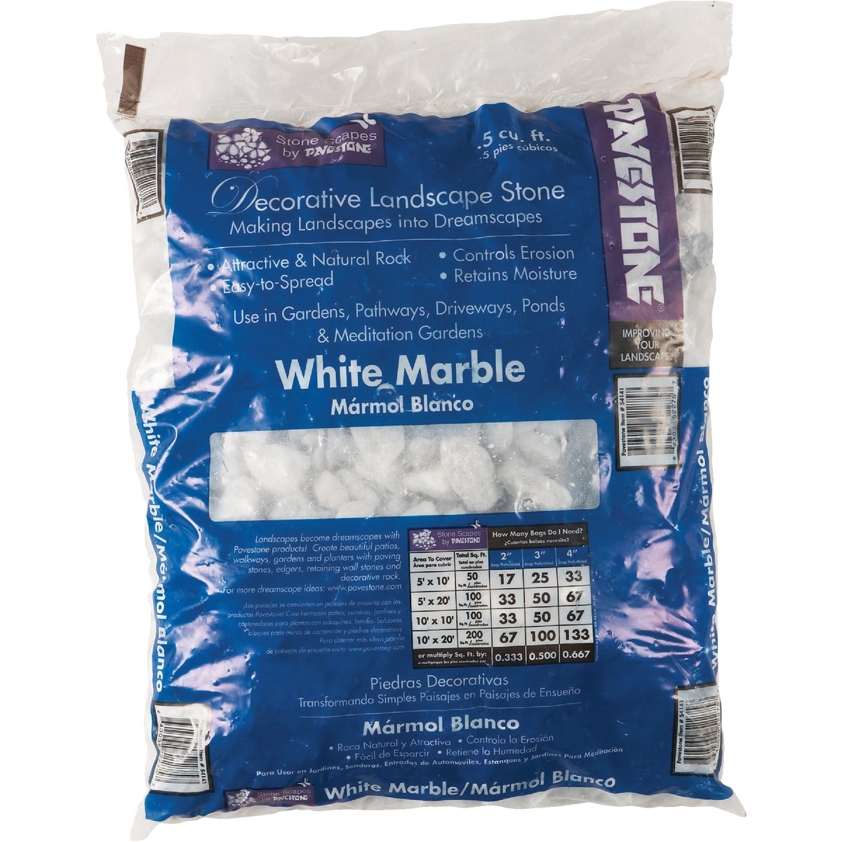 .5CF WHITE MARBLE CHIPS - 54141 by Pavestone Company Lp