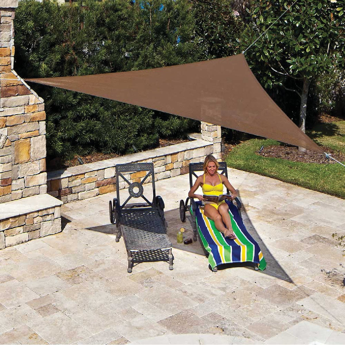 MOCHA SHADE SAIL - 449308 by Gale Pacific Coolaro