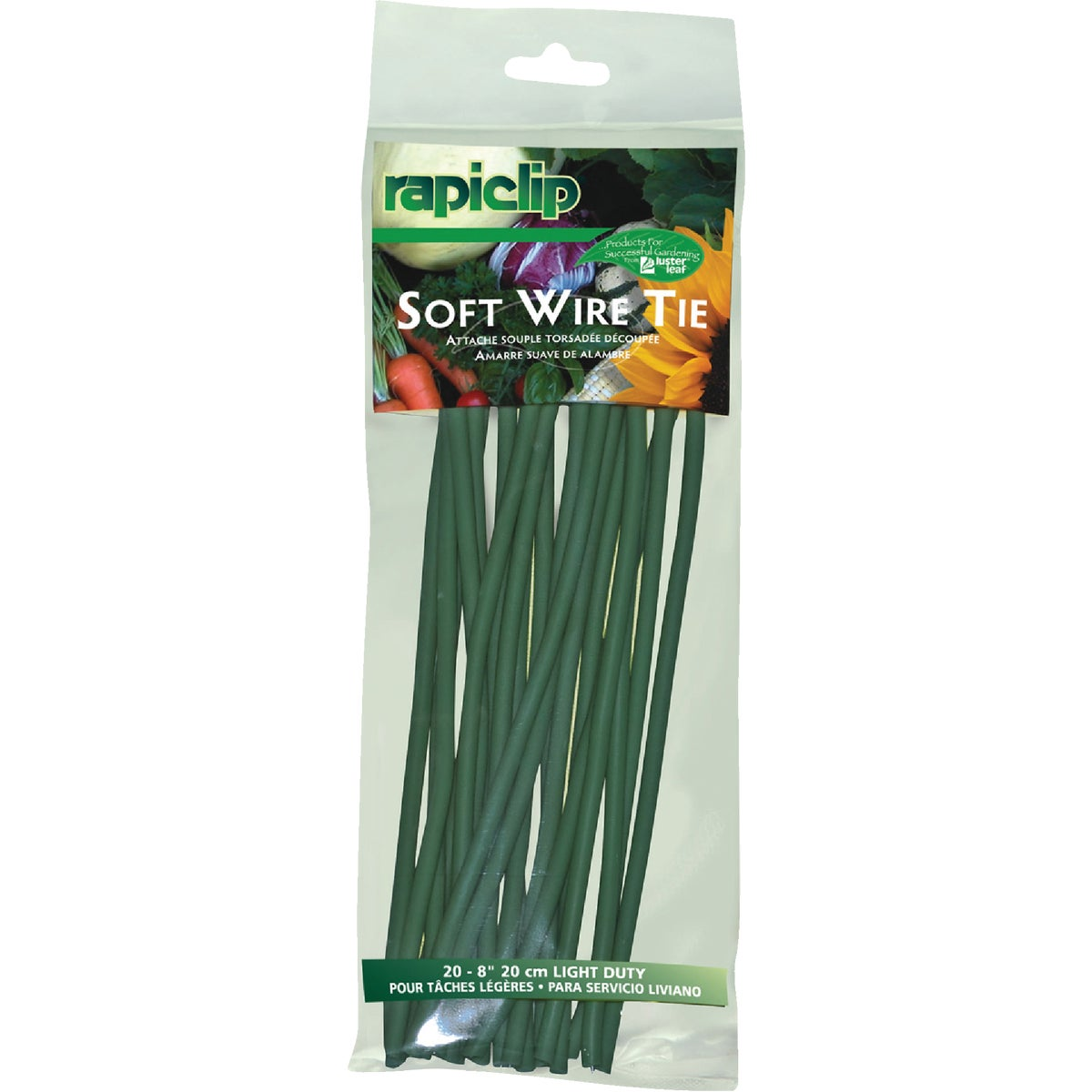 "20PK 8"" SOFT WIRE TIES"