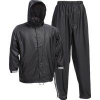 Custom Leathercraft 3-Piece Black Nylon Rain Suit MED 3PC BLK NY RAIN SUIT