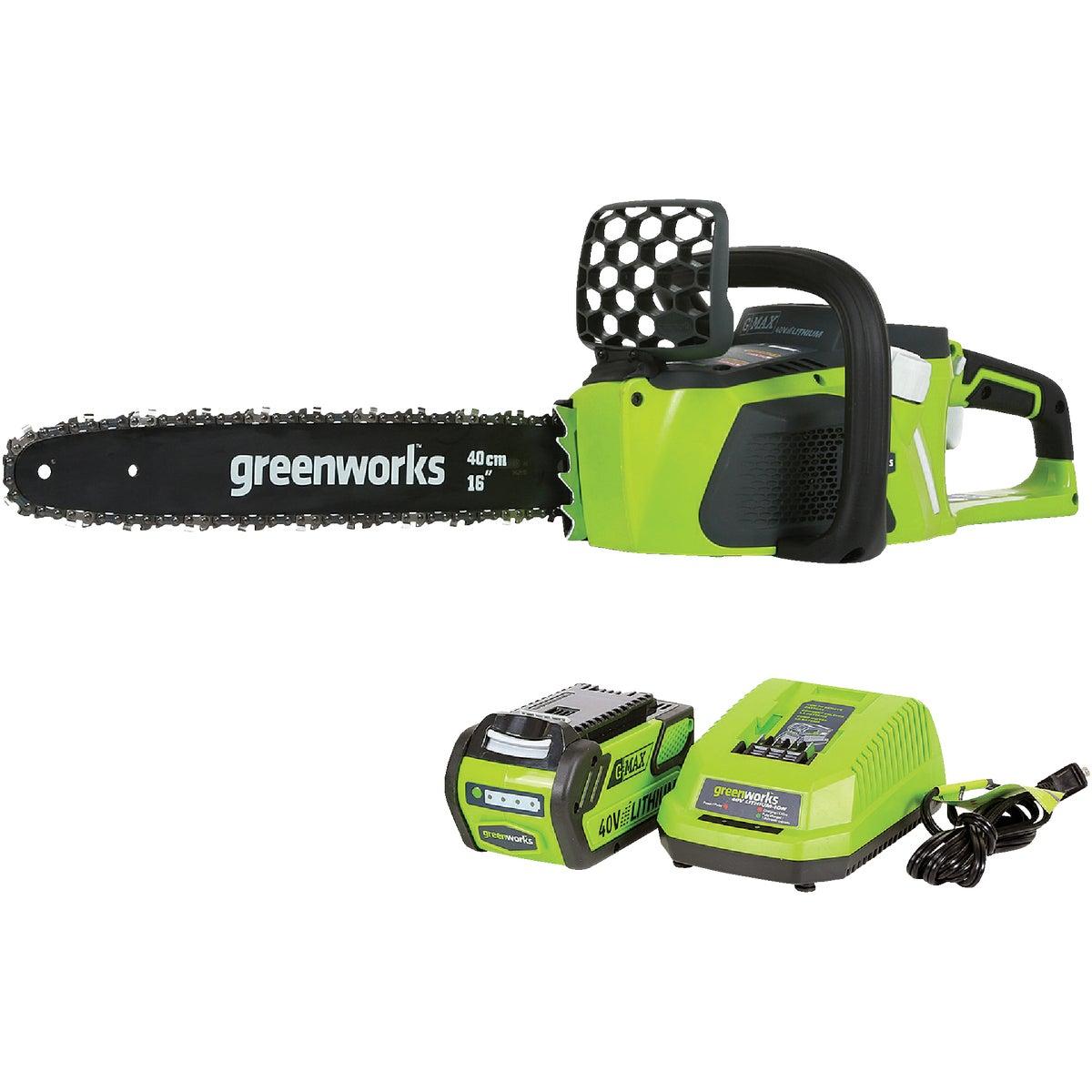 Greenworks G-MAX 40V Brushless Cordless Chainsaw, 20312