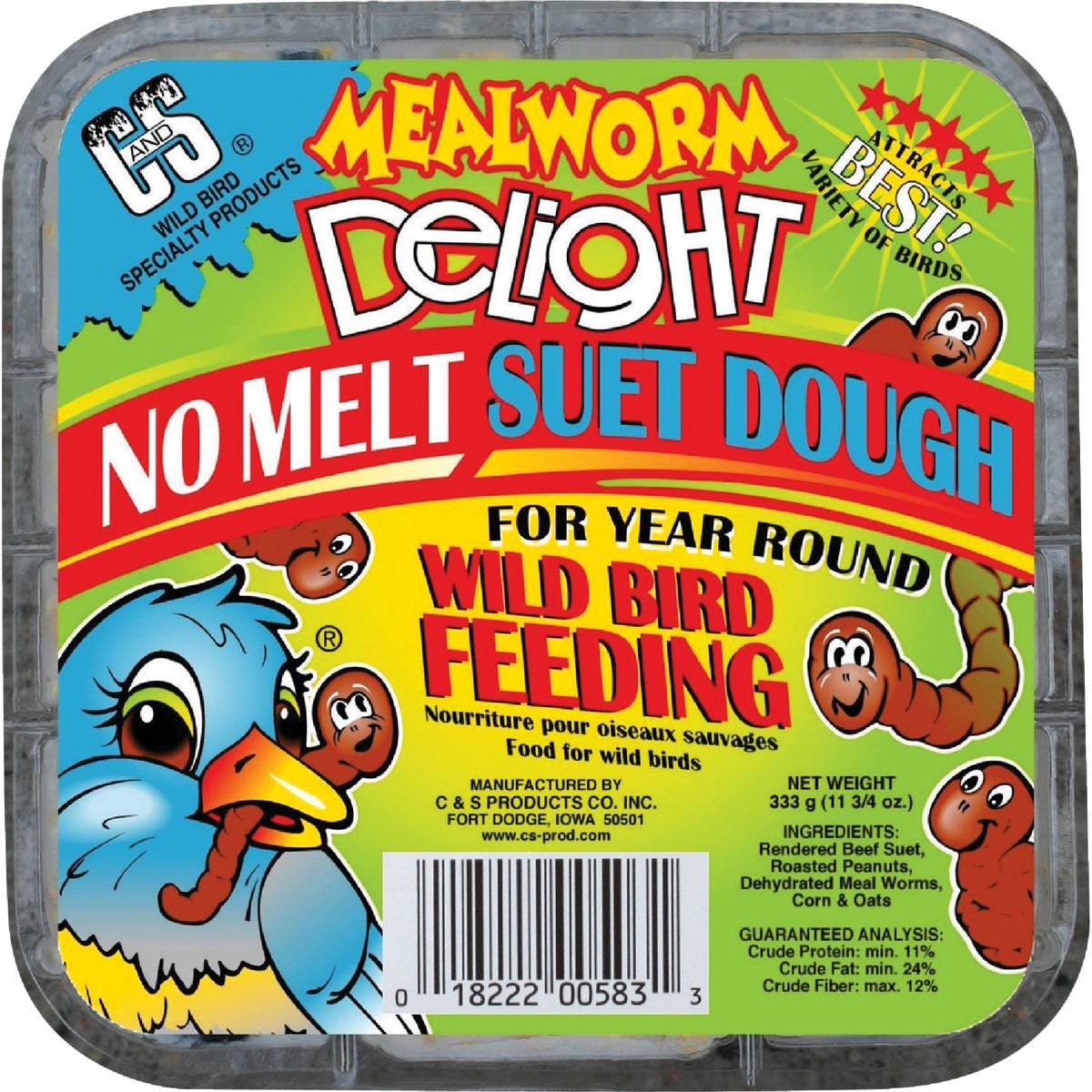 MEALWORM DELIGHT SUET - CS12583 by C & S Products Inc