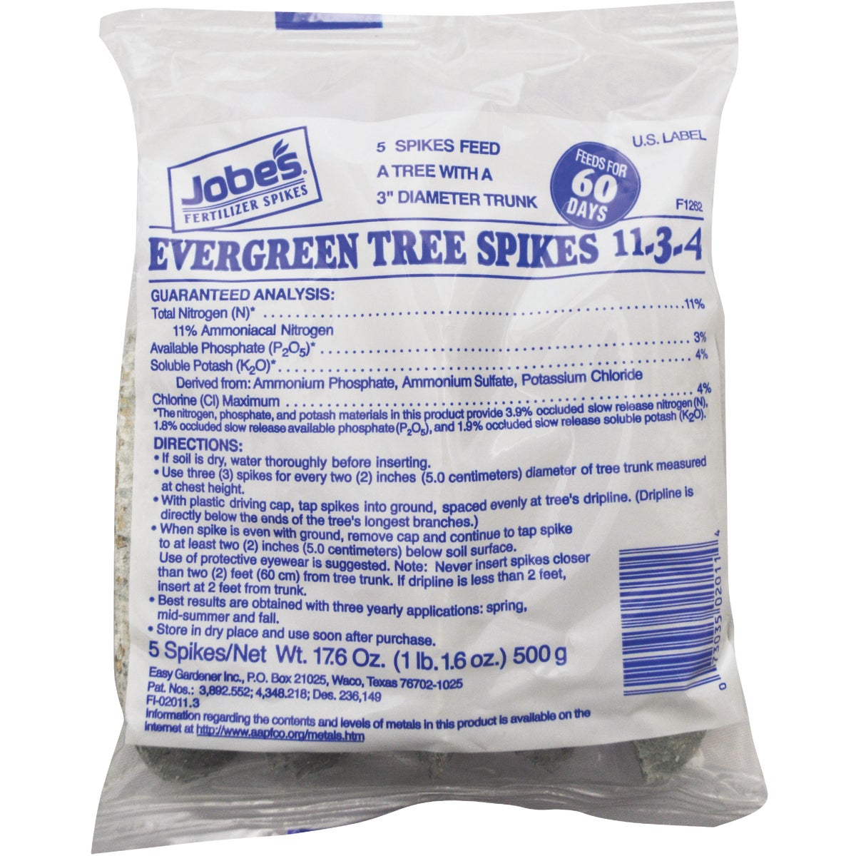 5PK EVERGREEN FERT SPIKE - 02011 by Easy Gardener Inc
