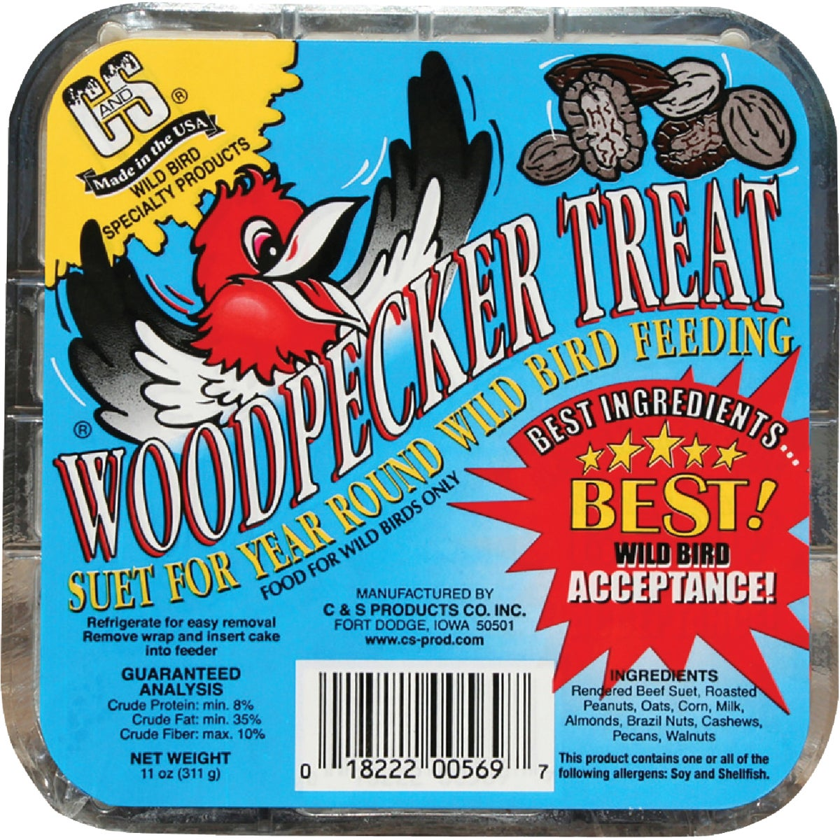 WOODPECKER SUET - 12569 by C & S Products Inc