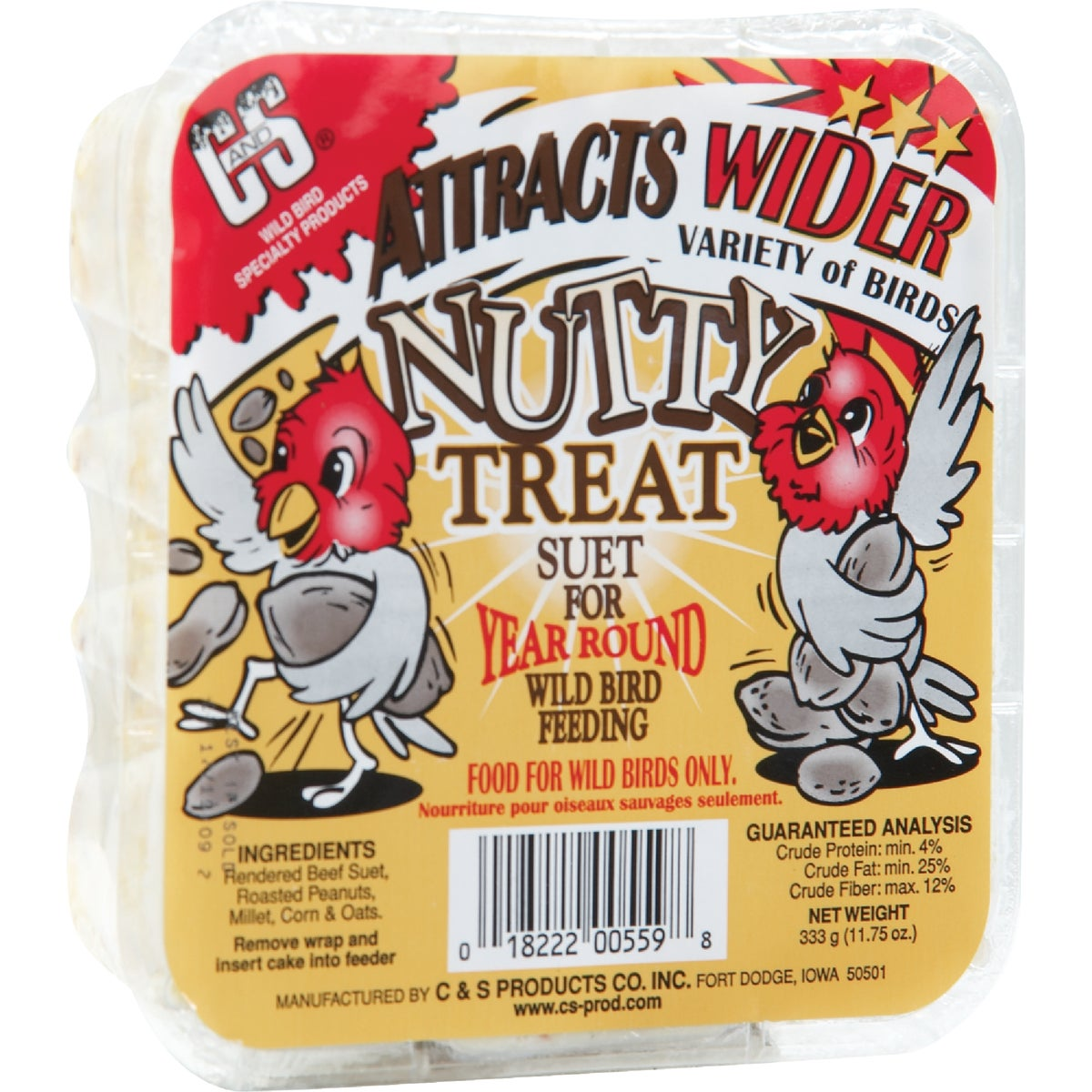 NUTTY TREAT SUET - 12559 by C & S Products Inc