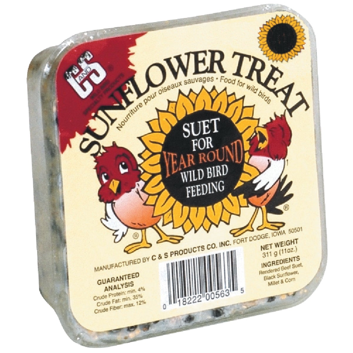 SUNFLOWER SUET - 12563 by C & S Products Inc