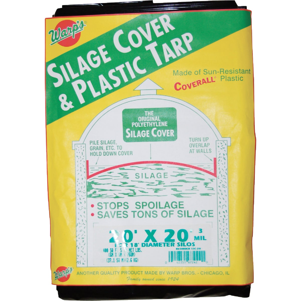 20X20 SILAGE COVER - SSC-20 by Warp Bros